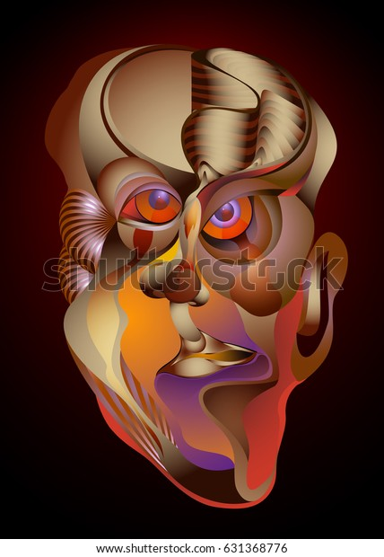View Abstract Digital Art Portrait Gif