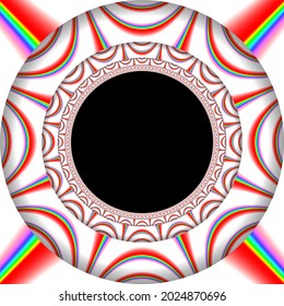 An original abstract illustration created by the artist using computer graphics.
