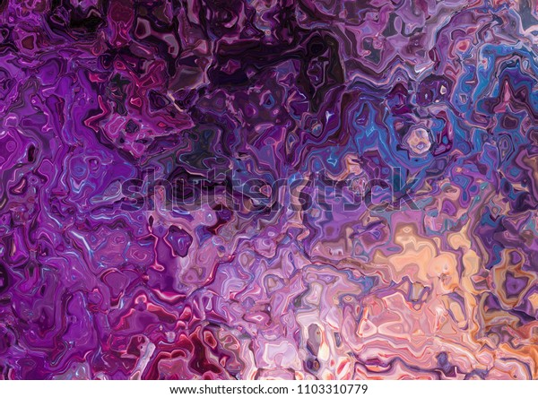 Original abstract painting. Creative pattern background. Marbled brush strokes drawing. Good for any printed production, print on fabric, clothes and ceramic. Template for design products decoration.
