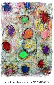 Original Colorful Abstract Grunge Background Painting