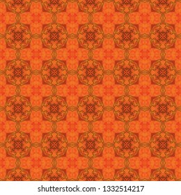 Original graphic seamless pattern. Symmetrical subtle ornament in bright colors. Graphic seamless pattern for use in web and digital design, craftworks and fashion products.