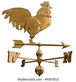Original isolated illustration of a bronze weathervane
