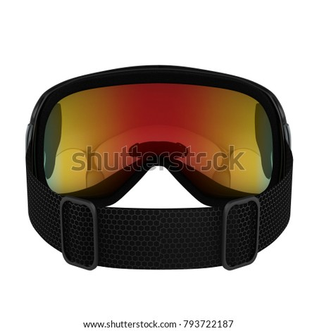 4218088d581 Original Modern Snowboard Goggles. Winter sport equipment. Back view. 3D  render Illustration isolated on a white background. - Illustration