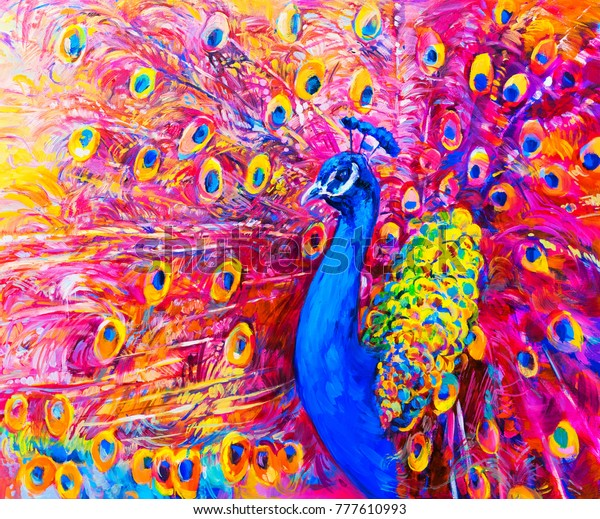 Ilustracoes Stock Imagens E Vetores De Pintura A Oleo Original De