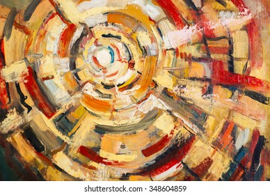 Original oil painting on canvas.Abstracts,the art