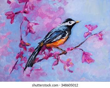 Oil Painting Bird Images Stock Photos Vectors Shutterstock
