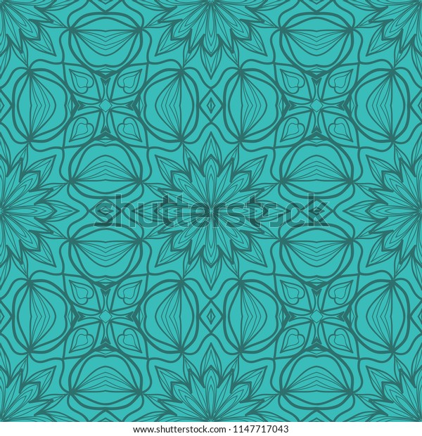 original pattern with lace decorative floral ornament.   illustration. seamless pattern