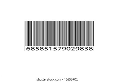 Original Retail Scan Bar Code Textured Black and White Background created from scratch.