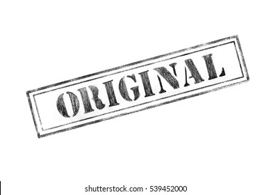 'ORIGINAL' rubber stamp over a white background