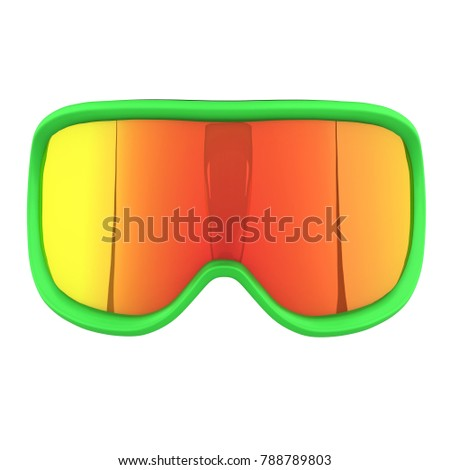 7a8a8e4afc8 Original SKI Goggles. Winter sport equipment. Front view. 3D render  Illustration isolated on a white background. - Illustration
