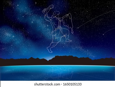 Orion which sparkles in the night sky