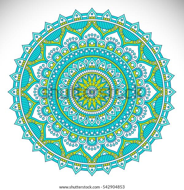 Ornament beautiful card with mandala