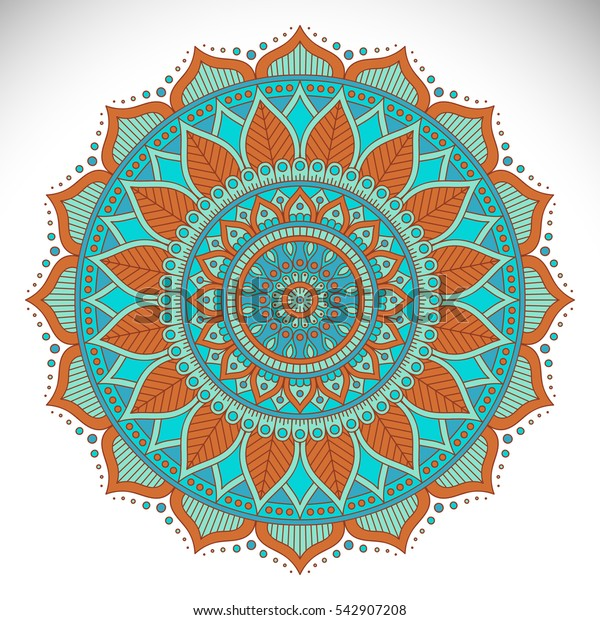 Ornament beautiful card with mandala