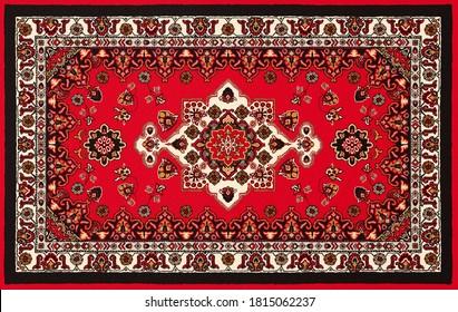 Ornament of old  persian carpet