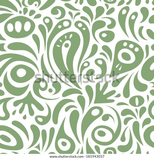 Ornamental border. Seamless pattern. Seamless damask pattern, classic wallpaper, neutral on a white background.