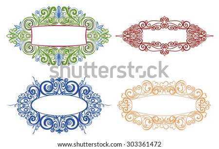 Ornamental Frames Decorating Cards Books Different Stock ...