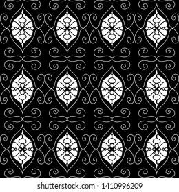 Ornamental Mandala Damask Pattern Artwork, Hand Drawn Turkish Designs, Paisley Print, Tattoo Work, Original Design Scrollwork