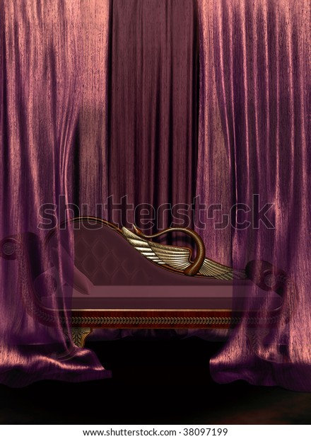 Cool Ornate Couch Curtains Stock Illustration 38097199 Gmtry Best Dining Table And Chair Ideas Images Gmtryco