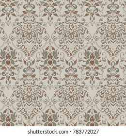 Ornate damask vintage wallpaper.  seamless pattern