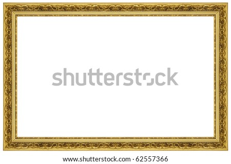 Royalty Free Stock Illustration of Ornate Gold Frame Stock ...