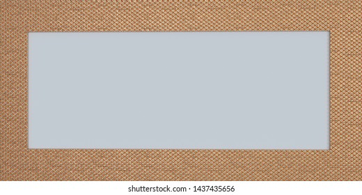 Ornate gold frame isolated on white background. 3d rendering