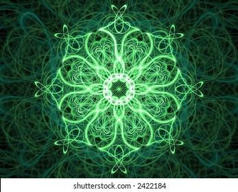 ornate green kaleidoscope
