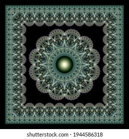 Ornate spellbinding fractal mandala ornament
