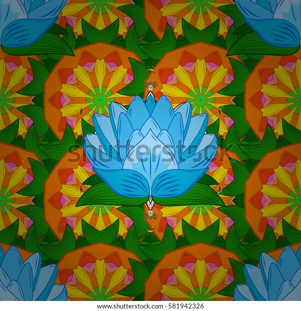 Ornate zentangle texture, endless pattern with abstract flowers. Seamless pattern can be used for wallpaper, web page background, surface textures. Seamless pattern with flowers. Ornaments.