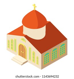 Orthodox church icon. Isometric illustration of orthodox church icon for web