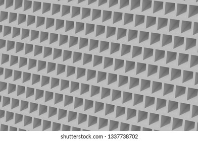 Orthographic cell cubic honeycomb gray abstruct background 4k 3d