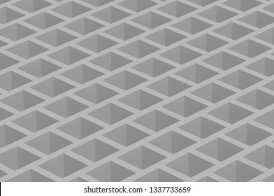 orthographic cubic honeycomb gray abstruct background 4k 3d