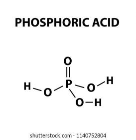 orthophosphoric acid. The chemical formula of Phosphoric acid. Infographics. illustration on isolated background