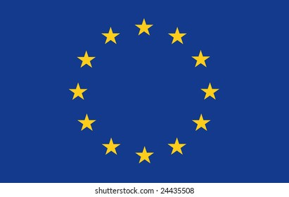 oryginal European Union Flag