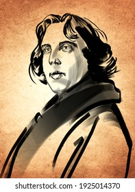 Oscar Wilde (Birth Date: October 16, 1854), Irish wit, poet, and dramatist