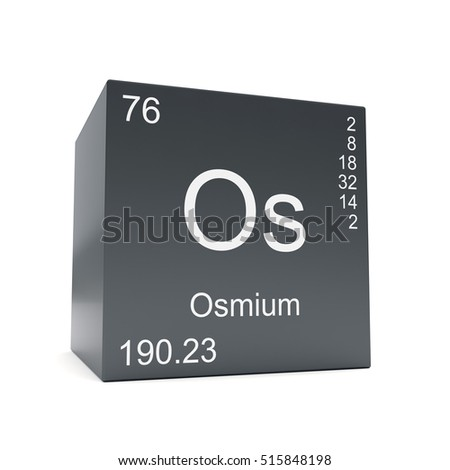 Osmium chemical element symbol periodic table stock illustration osmium chemical element symbol from the periodic table displayed on black cube 3d render urtaz Gallery