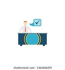 OTC Trading. OTC Trading Flat Icon Isolated on White Background.