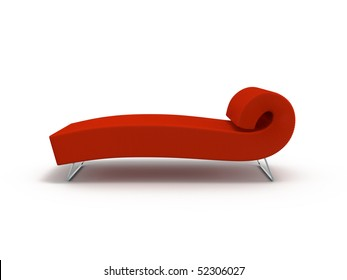 Ottoman red a material on a white background