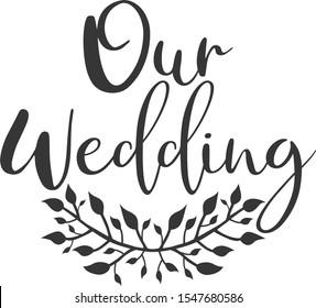 Our wedding Wedding day card