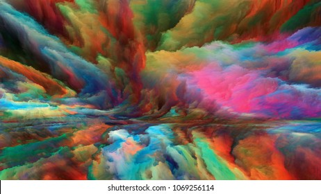 Out of This World series. Design composed of surreal landscape elements and fractal colors as a metaphor on the subject of imagination, creativity and art