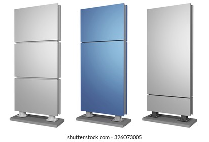 Outdoor advertising set made of metal