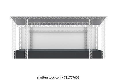 Outdoor Concert Stage Isolated. 3D rendering