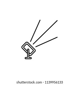 outdoor floodlight. Element of job lighting icon for mobile concept and web apps. Thin line outdoor floodlight can be used for web and mobile on white background