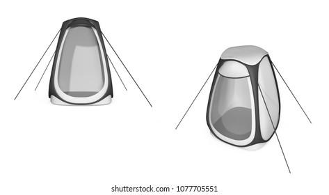 061352787c8 Outdoor rainproof single person sun-shade insulation pop up tent Keep warm  pop up