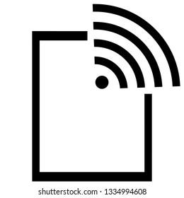 Outline hotspot icon. Hotspot illustration for web, mobile apps, design. Hotspot  symbol