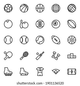 Outline icons for sports game.