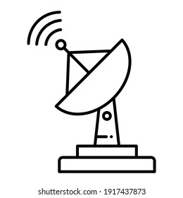An outline illustration of a satellite dish icon Design