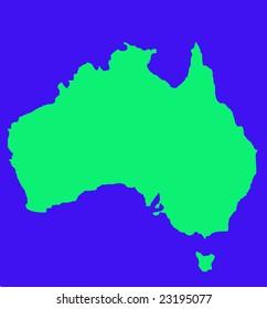 Map Of Australia And Tasmania.Outline Map Australia Tasmania Green Isolated Stock Illustration
