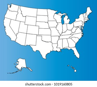 Us Map Outlines Images, Stock Photos & Vectors | Shutterstock