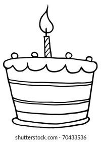 Black White Birthday Cake Images Stock Photos Vectors Shutterstock