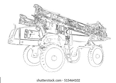 Outlines of the self propelled sprayer